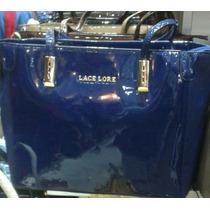 Bolsa Em Couro Sintético Azul Brilhante Lace Lore 2016
