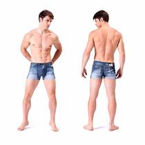 Cueca Boxer 3d Estilo Short Jeans Importada