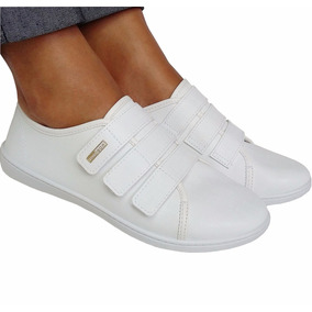 Tenis Feminino Branco Enfermagem Fechado Confortavel Moleca