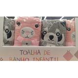 Toalha Infantil C/ Capuz E Aplique