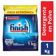 Detergente Lavavajillas Finish Polvo 1 Kg Pack Economico