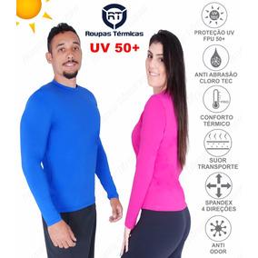 Blusa Proteção Solar Uv 50+ Malha Fria Dry Praia E Piscina