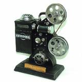 Projetor De Cinema Antigo Resina Cofre Cofrinho Vintage