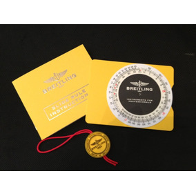 45530d0a246 Relogio Breitling Regua De Calculo Com Manual Original
