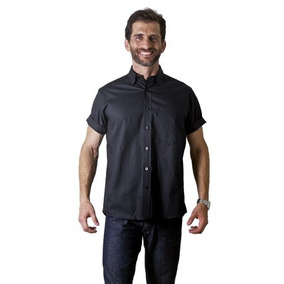 Camisa Social Masculina Algodão Misto F09926a Preto