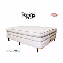Conjunto Sommier Regina Resortes 100x190 Env S/cargo Fabrica