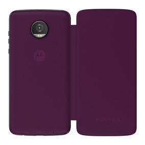 Moto Mods Funda Folio Color Morado Motorola Para Moto Z