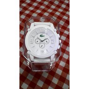 Relógio Masculino Lacostes Branco Entrega Imediata