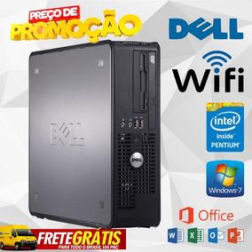 Cpu Pc Dell 1gb 80gb Hd Wi-fi Win7 E Office - Frete Grátis