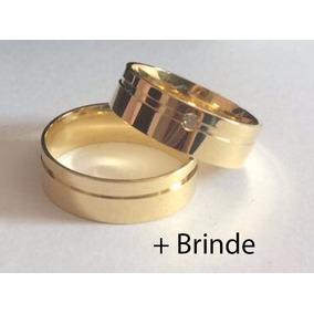 Par De Alianças Ouro 18k 6mm 10gr Casamento Diamante