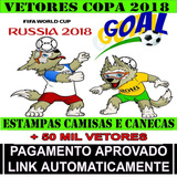 Vetores Estampas Copa Russia 2018 Canecas Camisetas + Brind