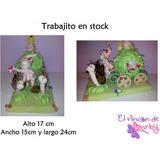 Adorno Hada En Carroza Porcelana Fria - En Stock