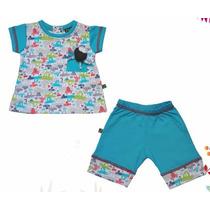 Conjunto Bebe Remera Short/bermuda Diseño Jersey Algodon