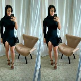 Vestido Mula Manca Com Fenda Moda Blogueira