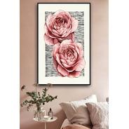 Cuadros Decorativos Modernos Vintage Tipo Acuarela Rosas