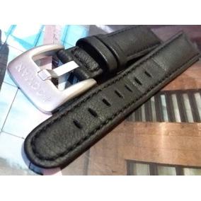 Pulseira Couro P/ Relógios Locman - 18/19mm - Preta