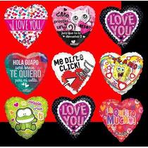 Globo Temporada Amor Mod Variados 18 Pulgadas Para Helio