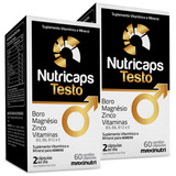 Nutricaps Testo Maxinutri 2x60 Cápsulas # Testosterona