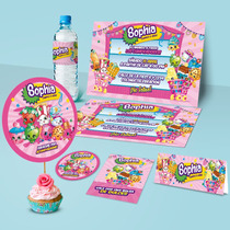 Kit Imprimible Personalizadas Shopkins Invitaciones