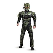 Hombres Disfraz Muscular Maestro De Halo Deluxe Jefe Traje