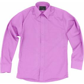 Camisa De Vestir Para Adulto Lila Tallas Extras 44 A 50