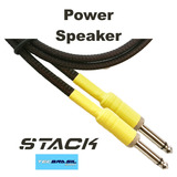 Cabo Stack Power Speaker Alto Falante Cabeçote Caixa 1 Metro