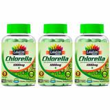 Combo 3 Clorella 1000mg 180 - Tabs - Lauton - Frete Grátis