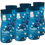 Gerber Graduates Puffs Cereal Snack, Blueberry, Con Sabor N