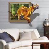 Papel De Parede 3d Tigre Adesivo Decoração 100x70cm Infantil