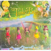Kit 5 Bonecas Fada Tinker Bell Disney Pvc Brinquedo -