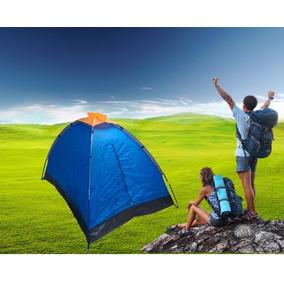 Carpa Para Camping En Poliester Para 2 Personas - Azul