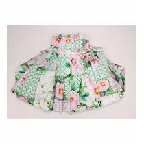 Vestido Pregas Floral Mio Bebe Larapha