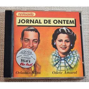 Cd Jornal De Ontem Orlando Silva E Odete Amaral