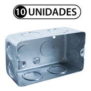 Caja Rectangular Chapa Embutir 5x10cm Normalizada X 10 Uni