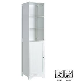 Mueble 1 Puerta Y 2 Entrepaños De Madera Blanco 40x 38 X160