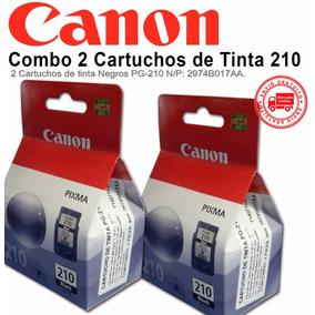 Combo 2 Cartuchos De Tinta Canon 210 Negro Pg-210 Originales