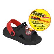 Sandália Papete Infantil Luelua + Brinde Moto Com Disparador