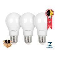 3x Lâmpada Led Bulb A60 9w Stella Sth8265 Quente Neutro Frio