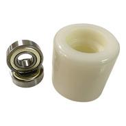 Roda Carga Dupla Nylon Paleteira Pl/lm 74 X 74 Com Rolamento