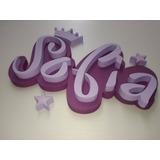Nombres Grandes En Polifan , 50 X 25 Cm -decoracion Infantil