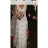 Vendo Vestido De Noiva, Sapato E Arranjo Cabelo