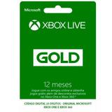 Xbox Live Gold 12 Meses Br Xbox 360 / Xbox One Envio 10 Min