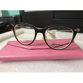 522fe2f39a67d Armacao De Oculos Miu Miu Cat - Óculos no Mercado Livre Brasil