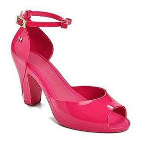 Sandália Zaxy Diva Rosa Pink Salto Original (melissa)
