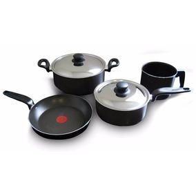 Bateria Cocina Set 6 Piezas T-fal Antiadherente Teflon Olla