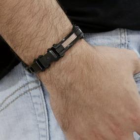 Pulseira Masculino Pu-cnx Infinite Black Wire Ipb/ipr 15mm