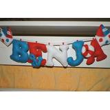 Cartel Guirnalda Bebe, Bienvenida, Decoración Hasta 5 Letras