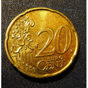 Moeda Bélgica - 20 Cent Euro - 2000 -dourada