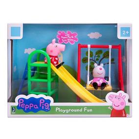 Peppa Pig Parque E Escorregador Peppa E Suzy -pronta Entrega