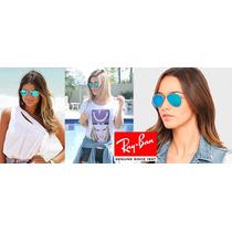 Óculos Aviador Rayban Azul Espelhado + 1 Brinde!!! Promoção